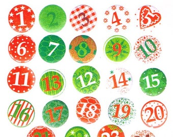 24 small badges for advent calendar