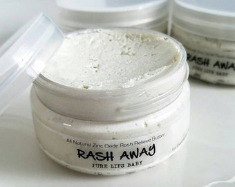 Zinc Oxide Rash Cream. Diaper Cream. Vegan Diaper Rash Cream. All Natural. Fragrance Free.