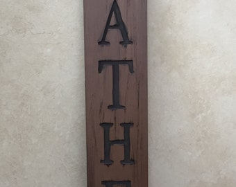 GATHER Sign-- Wood sign, home decor