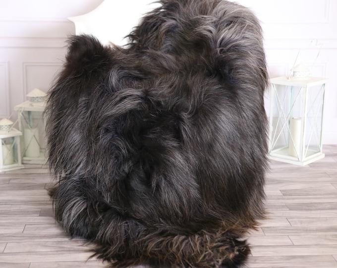 Icelandic Sheepskin | Real Sheepskin Rug |  Super Large Sheepskin Rug Gray Brown | Fur Rug | Homedecor #MIHISL12