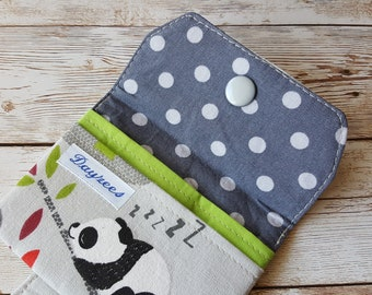 Card wallet | card holder | travel wallet | loyalty card keeper | minimalist wallet | credit card case | panda | cute wallet