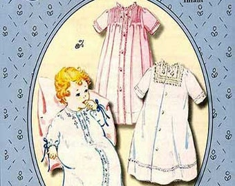 Daygowns / Baby's First Daygowns Pattern / Traditional patterns / Girls / Boys/  by The Old Fashioned Baby
