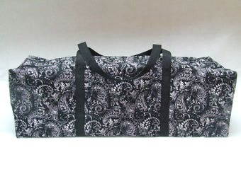 Brother ScanNCut Carrying Case / Cricut Explore / Explore Air 2/ Cricut Expressions 2 / Silhouette Cameo 3 / Black and White Paisley Print
