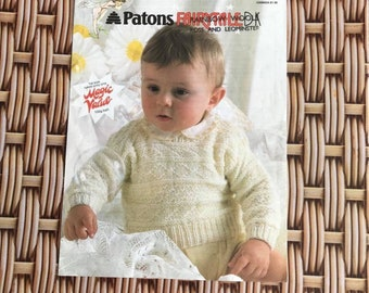 Vintage Knitting Pattern -Baby Jumper