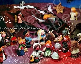 Amigurumi Nativity Free Download : Crochet nativity set etsy