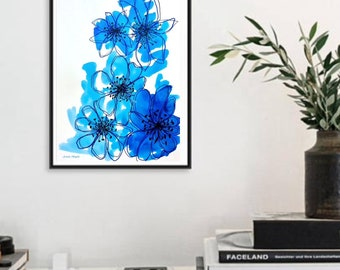 Singing the Blues, Printable Wall Art, Instant Download Printable Art