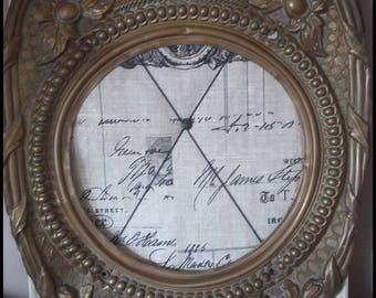 Vintage clock brass frame