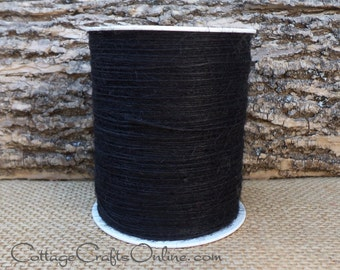 Burlap Cord String Black - 400 YARD ROLL Jute Cord - May Arts #08 - Halloween Packaging / Twine / Thread / Embellishment / Craft Ribbon