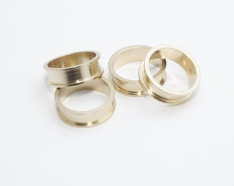 10 Pcs Width 4,5mm Raw Brass Ring Setting , Channel Ring Settings, Ring Base , PND54