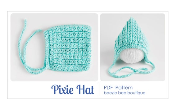 Items similar to pdf pattern for crochet pixie hat instant items similar to pdf pattern for crochet pixie hat instant download newborn size only on etsy dt1010fo