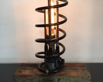 Unique Upcycled Sculptural Industrial Steam Punk Table Lamp