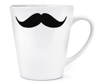 Handlebar Moustache 12oz Latte Mug Cup