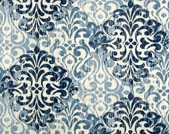 Two 26 x 26 Designer Decorative Pillow Covers Euro Shams - Large Damask Pumice -  Blue