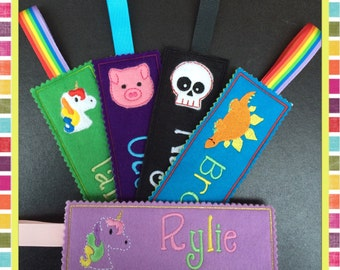 Personalised BOOKMARK, Bookmarks for kids, Bookmarks for children, Unicorn Bookmark, Party Bag Fillers, CUSTOMISED bookmark, personalized