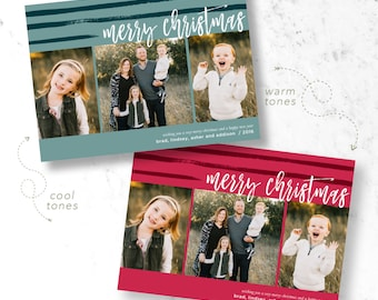 Merry & Striped Holiday Photo Cards