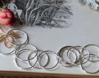 3 No-See-Em Silver Stacker Rings- your size
