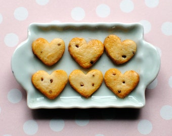 Heart Shape Chocolate Chip Cookies,  1/8 Scale For PukiFee, Lati Yellow, Middie Blythe