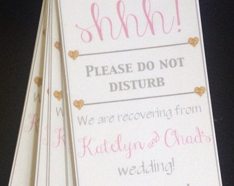 Door Hanger for Hotel Wedding Guests