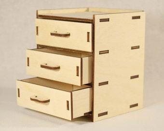 Dollhouse dresser,Miniature dresser, Chest of drawers,miniature doll furniture,dollhouse chest,dollhouse furniture,dollhouse bedroom