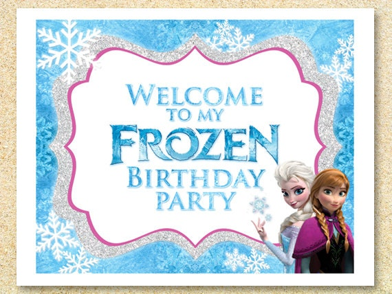 Frozen Printable Welcome Party Sign Instant Download Frozen