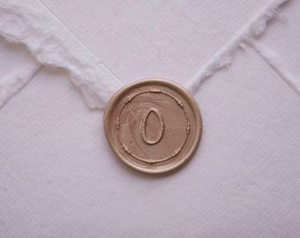 Number Zero Wax Seal, number 0, place card for weddings