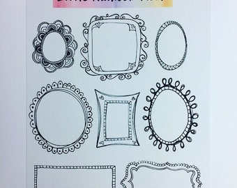 Bujo stickers - Frames
