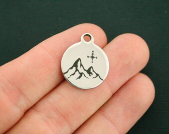 Mountain Stainless Steel Charms - Exclusive Line - Quantity Options - BFS2358