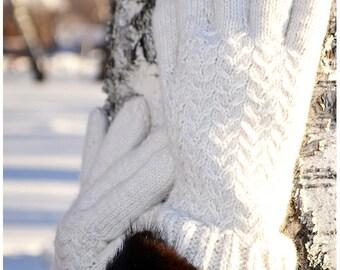 "Gloves Snow / Перчатки ""Снег"""