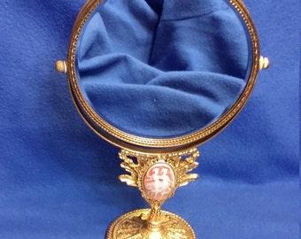 Antique Filagree Makeup Mirror