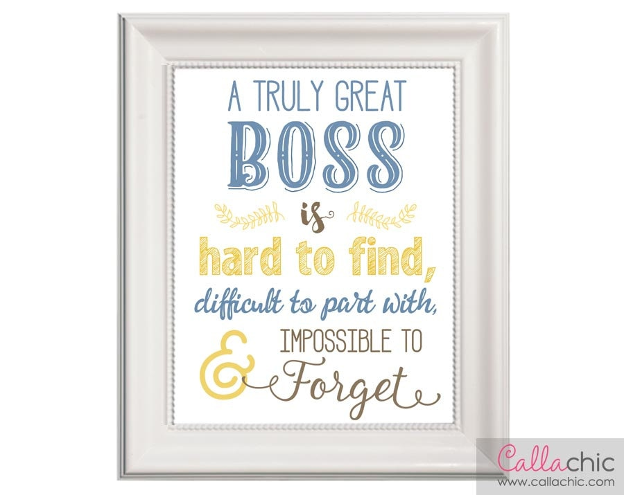 Boss Wall Art PRINTABLE Appreciation / Farewell / Retirement