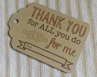 Teacher Gift Tag - Thank You