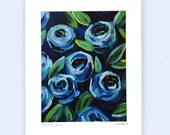 """Blooming Blue, 8.5""""x..."""