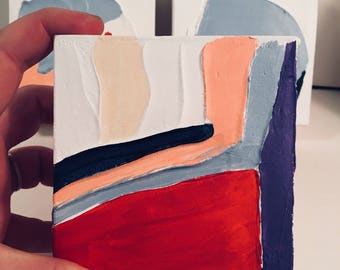 Mini Lyrical Abstractionism Painting