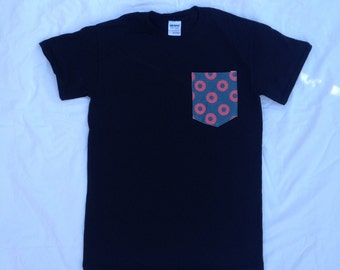 Men's Fishman Donut Pocket Tee in Black Phish Shirt / You Enjoy My Shirt