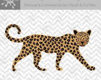Leopard SVG, Leopard Clipart, Leopard Cut File, Leopard Clip Art, Safari Animals SVG Cut, Safari Animals Clipart, African Animals SVG