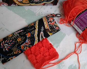DPN holder Needle holder DPN case Knitting holder Needle case Stitch holder Knitting accessories Sock knitting holder Sock knitting bag