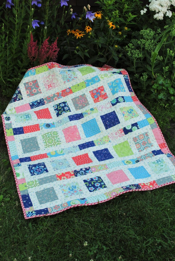 Pdf Baby Quilt Pattern Quick And Easy 2 Charm Square
