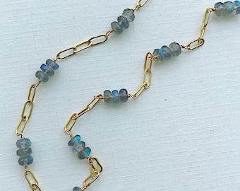 Labradorite Linked Necklace