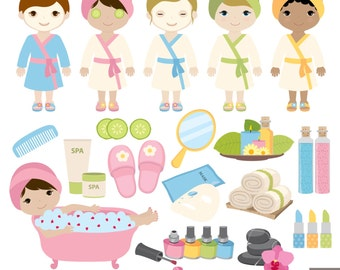 SPA Party Digital Clipart