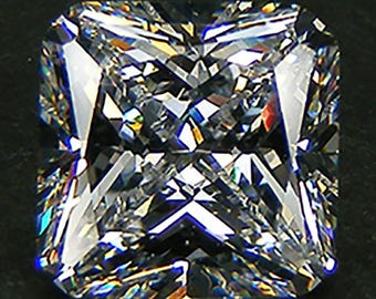 Top Quality  6A Radiant Cut 10 x 10  MM. White Russian CZ Loose CZ Faceted Cubic Zirconia  Loose Gemstones