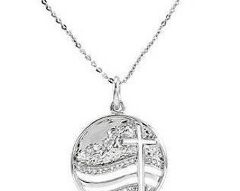 Sterling Silver Move the Mountains Lord Necklace