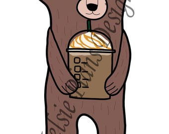 Sleepy Bear is Pretty and Drinks Frapps!