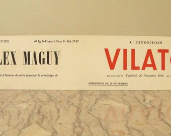 vintage Alex Maguy gallery invitation
