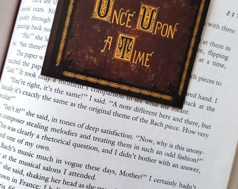 Once Upon A Time storybook magnetic bookmark