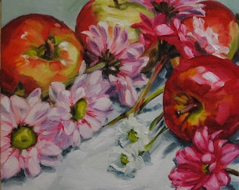 Red and Pink - Floral Oil Painting 104