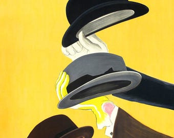 Mossant Hats. Vintage French Fashion Advertising. Fine Art Print/Poster. (4799)
