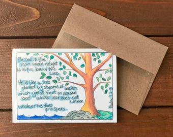 Psalm 1:1-3 - Like a Tree Scripture Card