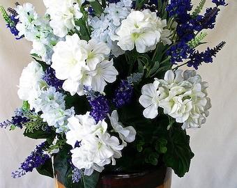 Light pink ivory centerpiece silk flower arrangement mothers purple white centerpiece silk purple flower centerpieces artificial flowers mightylinksfo Images