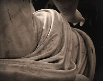 "Statue photograph, vintage mood, brown, sepia -- ""Flowing Marble"", a 5x7-inch fine art photograph"