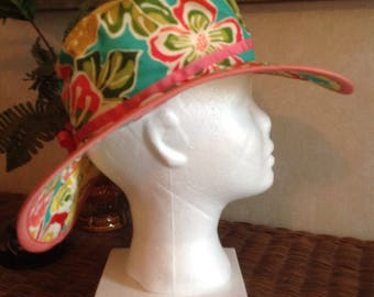 Tropical Flowers Sunhat
